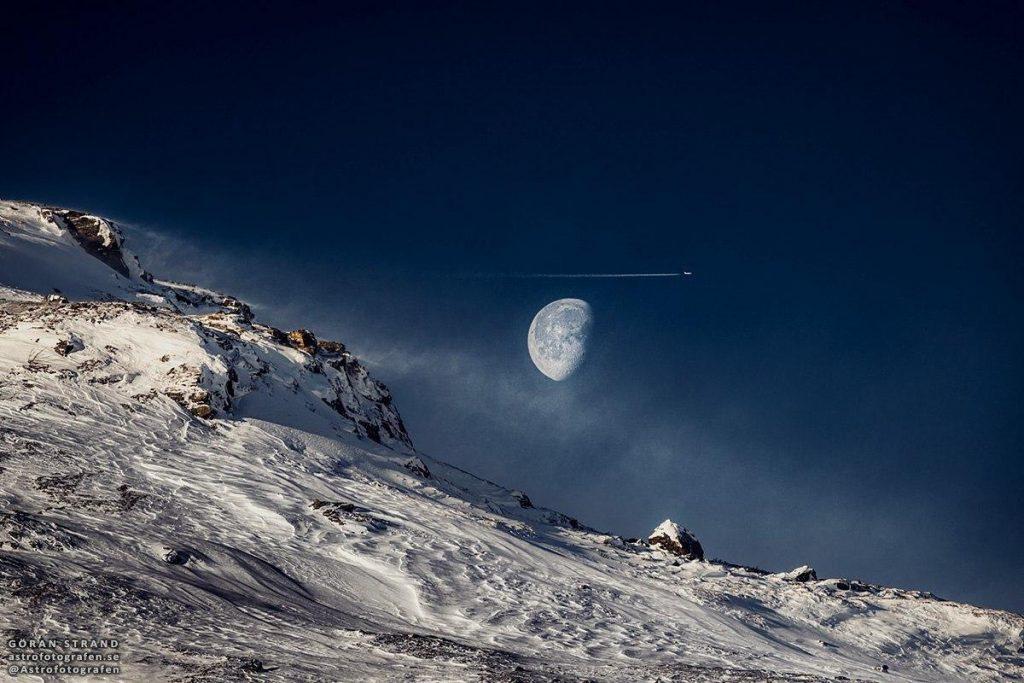 Уникальный снимок Луны из Швеции 1
