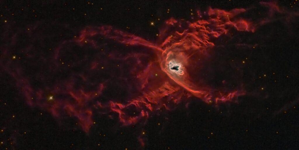 теплая планетарная туманность Красный паук