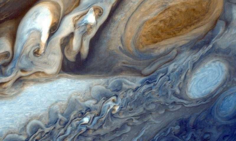 модель погоды на Юпитере и Сатурне